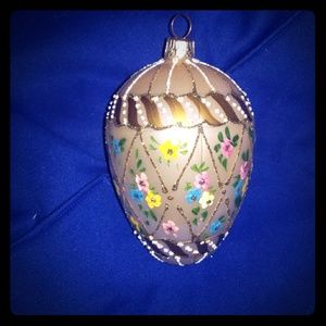 Hand decorated European collectible Christmas ball